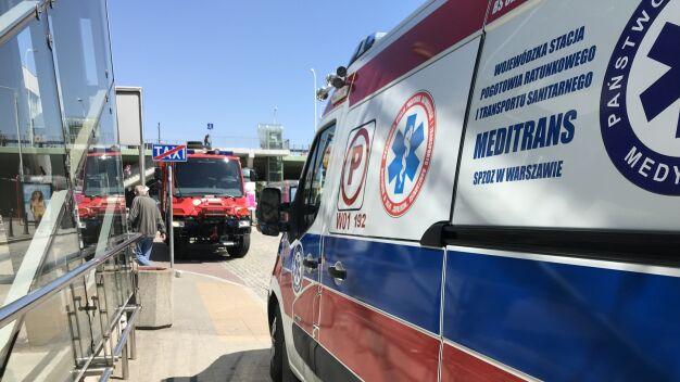 Wypadek w metrze,  ucierpiały dwie osoby