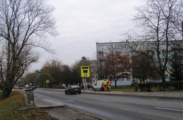 Znak przy ul. Warszawskiej ZDM