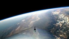 Zdjęcie z pokładu SpaceShipTwo (Virgin Galactic 2018)