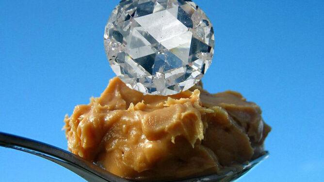 Stworzył diament z... masła orzechowego