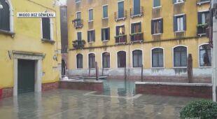 Wiele zabytków w Wenecji jest zalanych